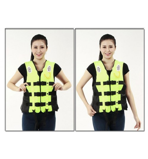 Life Jacket Vest Adult Foam With Straps&Whistle XL