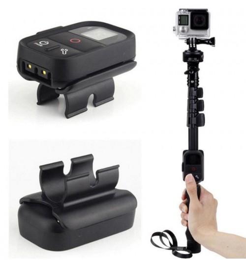 WiFi Remote Clip Mount Lock Holder Adapter for GoPro Monopod Selfie Stick