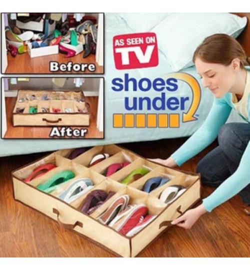 Shoes Organizer Storage Box Under Bed