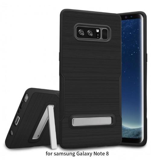 Galaxy note 8  Slim Armor Carbon Fiber Brushed TPU Soft Kickstand cover case