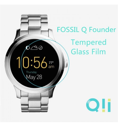 Fossil Q Founder Tempered Glass Film Screen Protector
