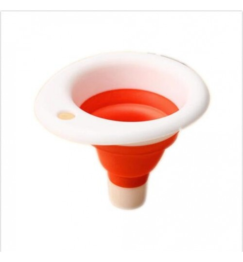 Mini Portable Funnel Mini Silicone Gel Foldable Collapsible Style Funnel
