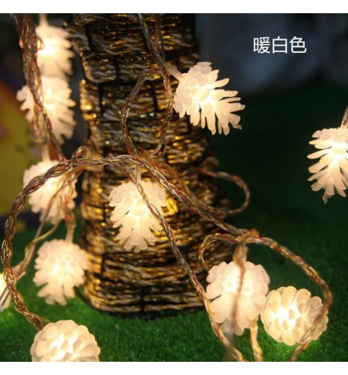 LED Pine Cones  String  String Light