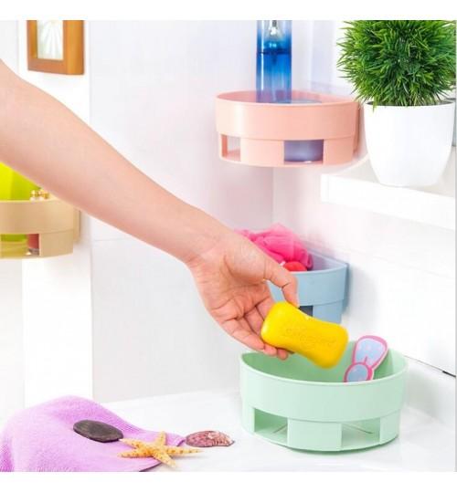 Bathroom Kitchen Corner Storage Rack Organizers Shower Shelf