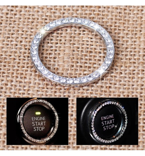 Diamond Start Button Ring