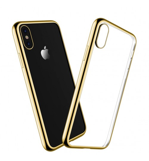 iPhone X case bumper w clear gel back cover