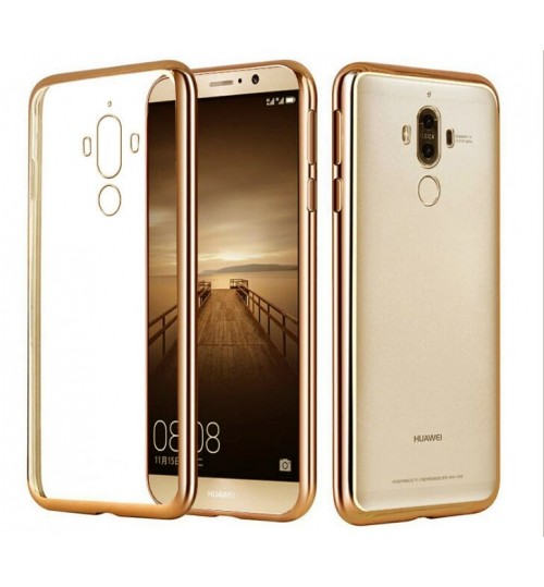 Huawei MATE 9 pro case bumper w clear gel back cover