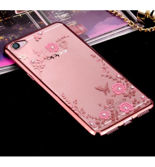 Oppo A39 case soft gel tpu case luxury bling shiny floral case