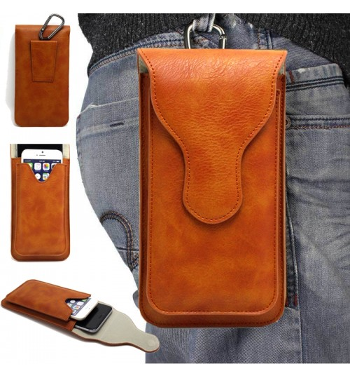 Universal Flip Leather Phone Holster Case