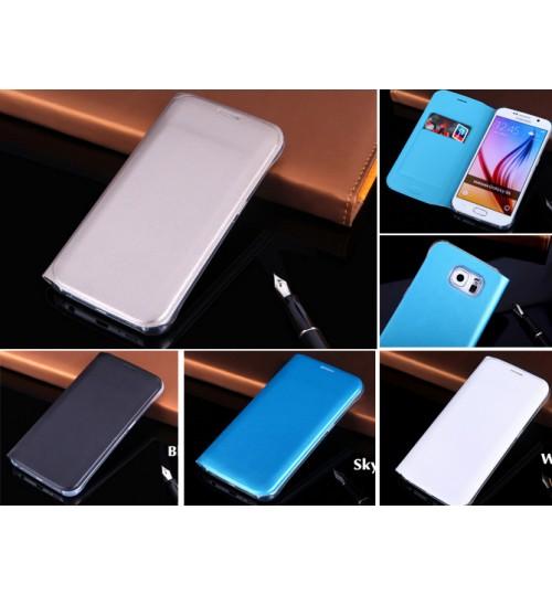 Galaxy S6 edge case S6 edge Flip Slim Wallet Leather Case Cover
