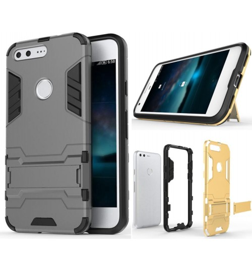 Google Pixel Heavy Duty Hybrid Kickstand Case Cover