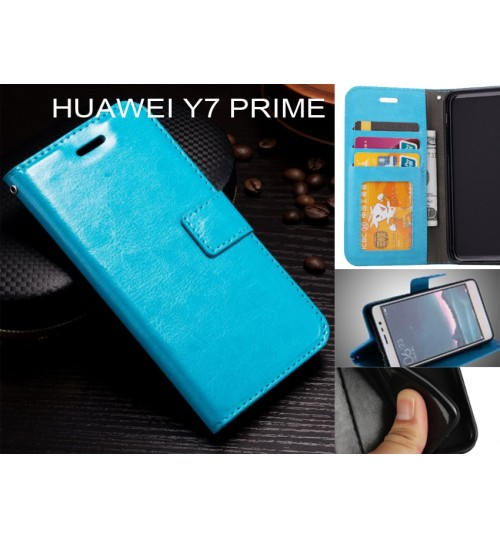 Huawei Y7 Prime  case Fine leather wallet case