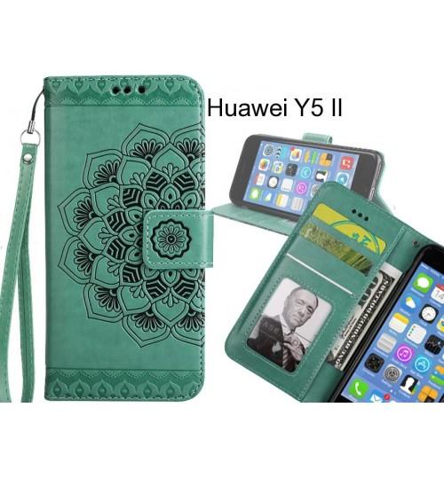 Huawei Y5 II Case Premium leather Embossing wallet flip case
