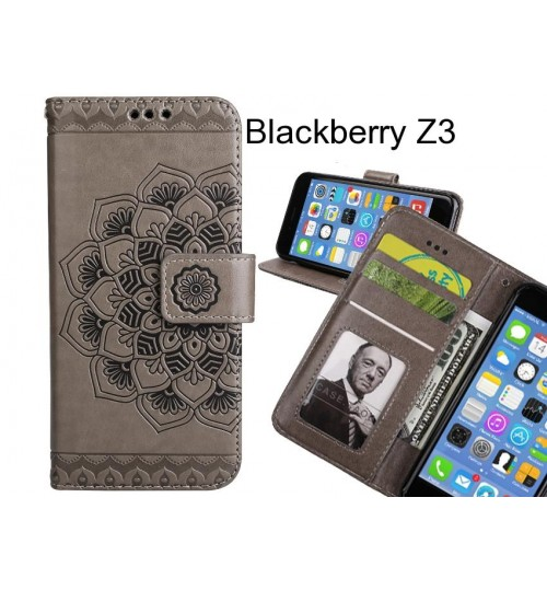 Blackberry Z3 Case Premium leather Embossing wallet flip case
