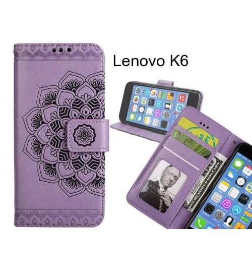 Lenovo K6 Case Premium leather Embossing wallet flip case