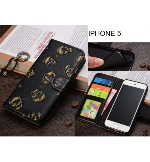 IPHONE 5  Leather Wallet Case Cover