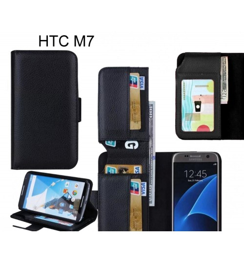 HTC M7 case Leather Wallet Case Cover