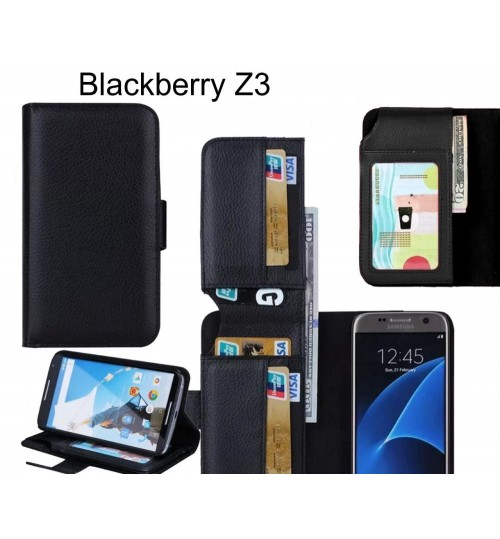 Blackberry Z3 case Leather Wallet Case Cover