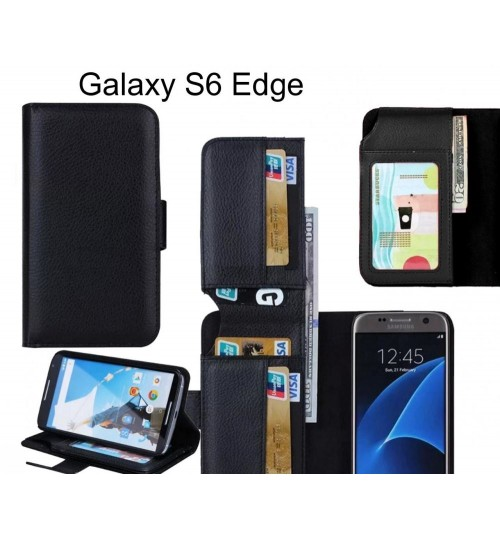 Galaxy S6 Edge case Leather Wallet Case Cover