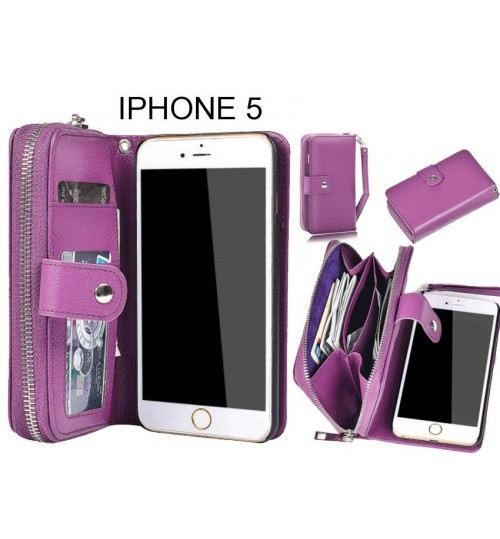 IPHONE 5  Case coin wallet case full wallet leather case