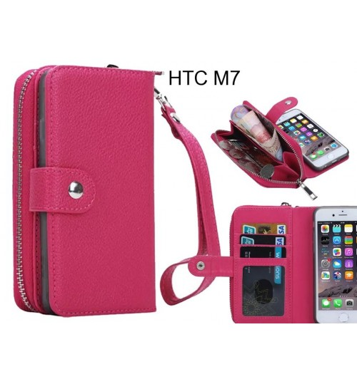 HTC M7  Case coin wallet case full wallet leather case