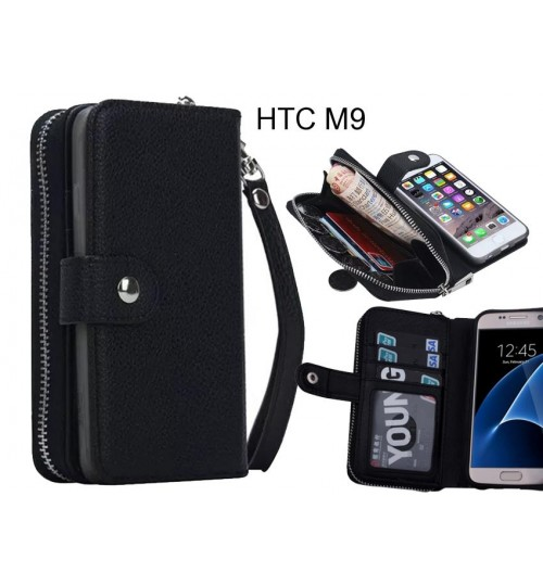 HTC M9  Case coin wallet case full wallet leather case