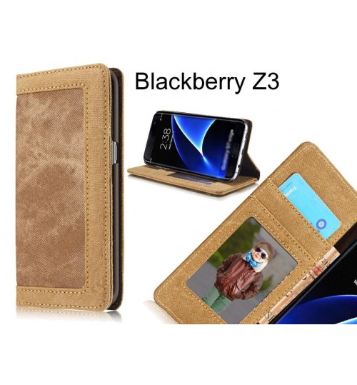 Blackberry Z3 case contrast denim folio wallet case magnetic closure
