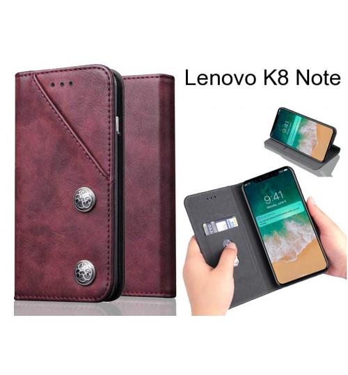 Lenovo K8 Note Case ultra slim retro leather wallet case 2 cards magnet case