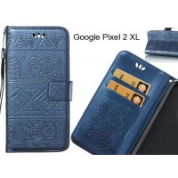 Google Pixel 2 XL case Wallet Leather flip case Embossed Elephant Pattern