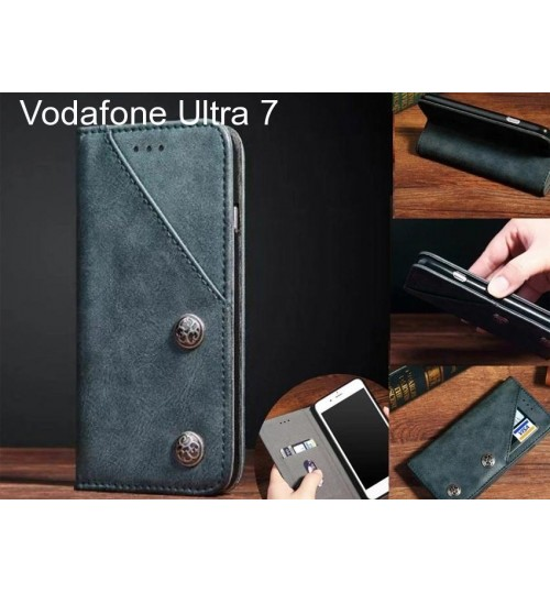 Vodafone Ultra 7 Case ultra slim retro leather wallet case 2 cards magnet case