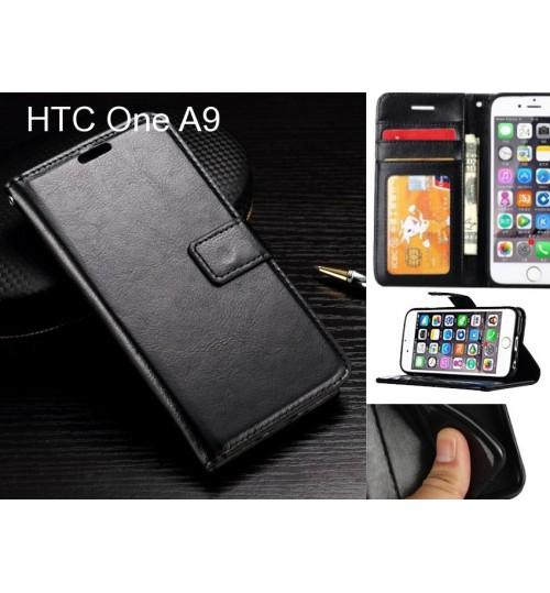 HTC One A9  case Fine leather wallet case