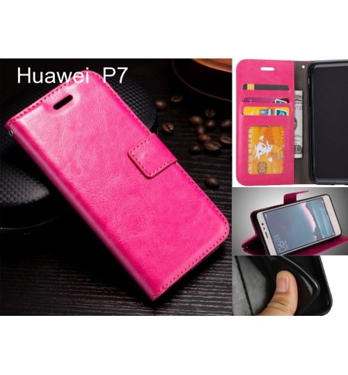 Huawei  P7  case Fine leather wallet case