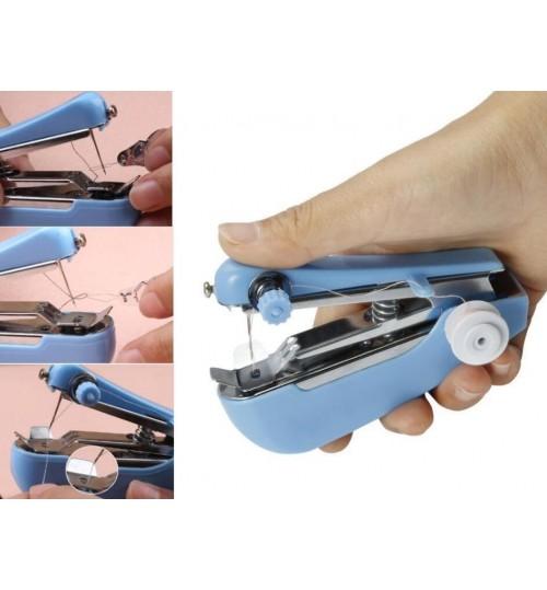 Sewing Machine Mini Handy Clothes Fabric Handheld