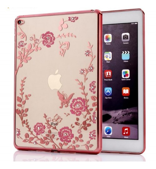 iPad Air 2 soft gel tpu case luxury bling shiny floral case