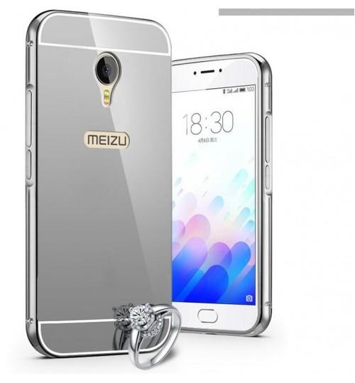promo code 6470e 03f01 MEIZU M5 Note case Slim Metal bumper with mirror back cover case
