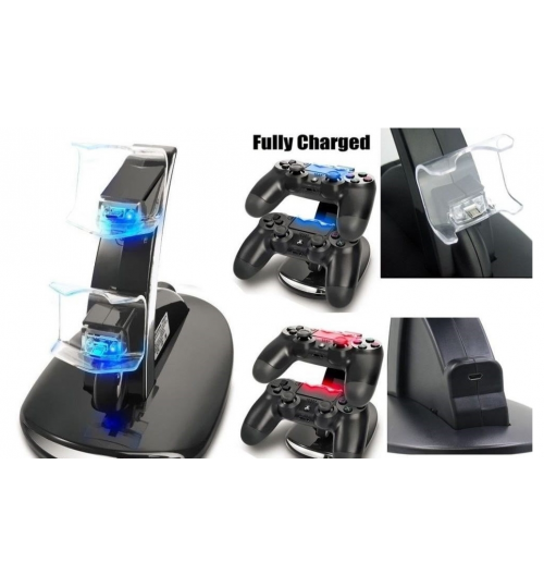 USB Dual Charging Dock Charger Dock Stand For PS4