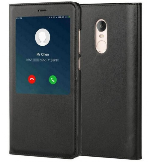 Xiaomi Redmi Note 4 Smart Leather Flip window S view case