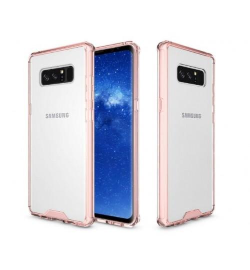 Galaxy note 8 case bumper  clear gel back cover