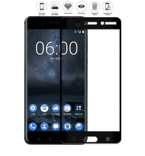 Nokia 6  Full Screen Tempered Glass Screen Protector Film
