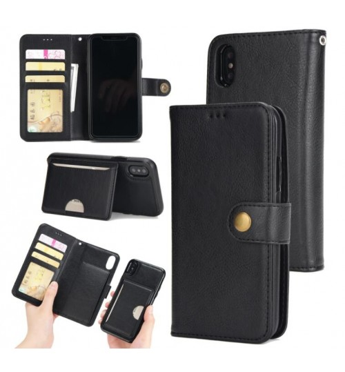 huge discount de9d2 f57fe Buy iPhone X case Detachable Leather Card Slots Wallet Case online ...