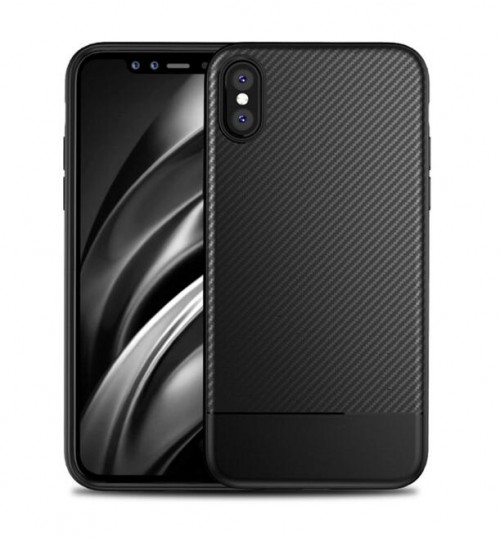 iphone X case impact proof rugged case with carbon fiber