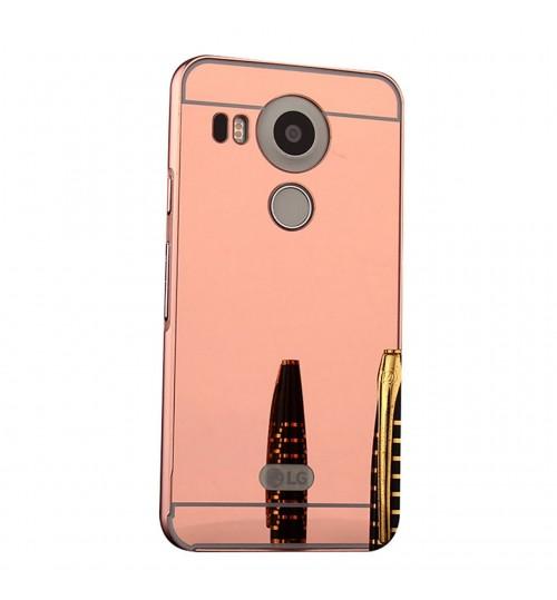 Nexus 5X case Slim Metal bumper with mirror back cover case