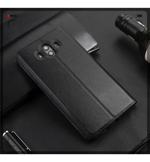 Huawei Mate 10  Case Flip Leather Window View Case