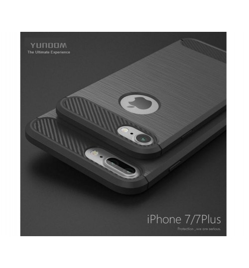 iPhone 7 case impact proof rugged case with carbon fiber