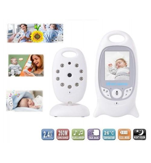 "Wireless Baby Monitor Audio Video 2 Way Audio, 2"" LCD, IR LED Baby Monitor"