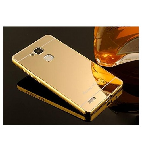HUAWEI MATE 7 case Slim Metal bumper with mirror back cover case