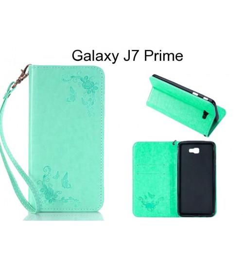 Galaxy J7 Prime  CASE Premium Leather Embossing wallet Folio case