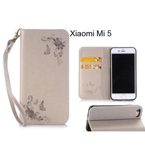 Xiaomi Mi 5  CASE Premium Leather Embossing wallet Folio case