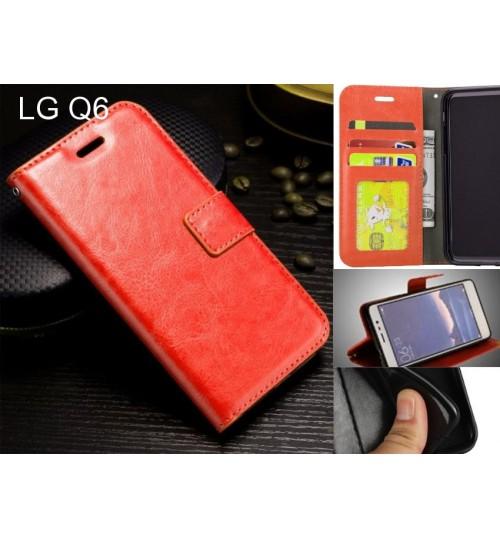 LG Q6   case Fine leather wallet case