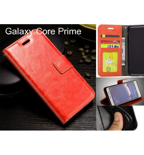 Galaxy Core Prime   case Fine leather wallet case